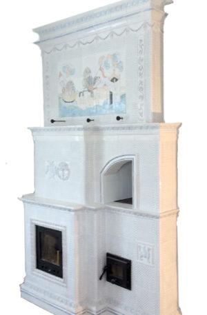 Изразцовый камин печь