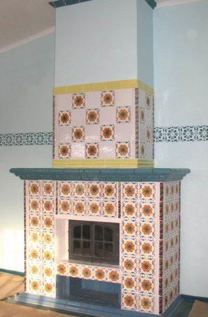камин васнецовски с изразцами