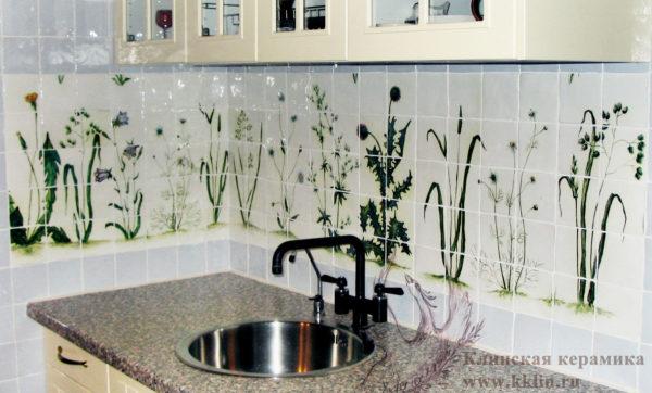 кухонный фартук Полевые цветы