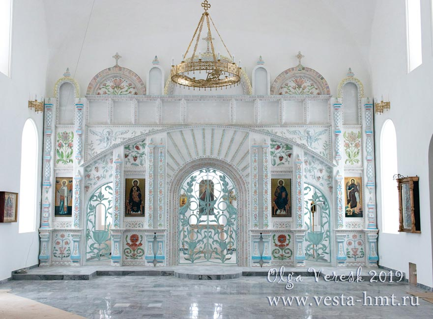 иконостас в селе Мягкое