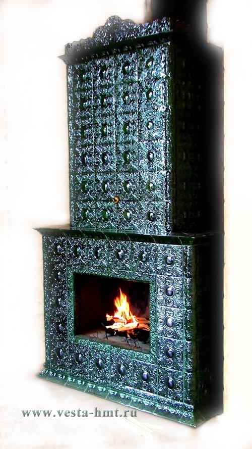 Tile fireplace brünnhilde