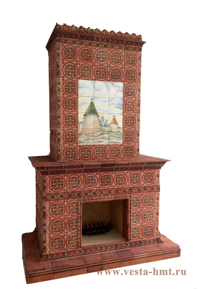 Fireplace in the monastery