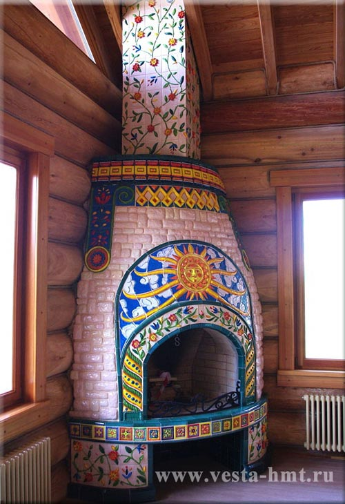 Tile fireplace Svarog