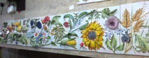 Изразцовое панно Райский сад. Производственники и искусство