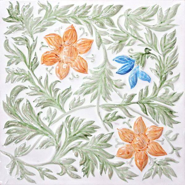 Изразец фоновый расписной из коллекции растительной