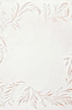 Изразец белый фоновый из коллекции растительной