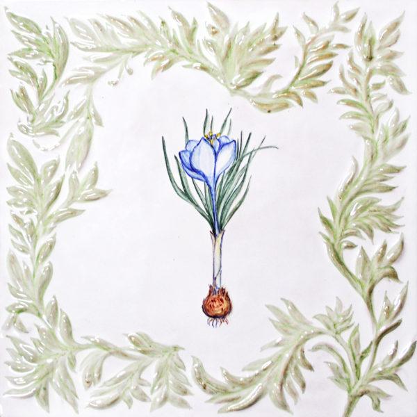 Изразец с цветами из коллекции растительной