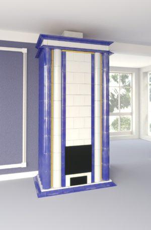 печь с колоннами